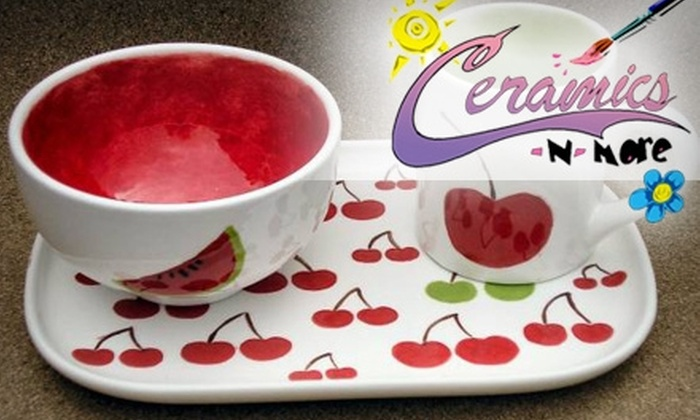 Ceramics-N-More - Multiple Locations: $10 for $20 Worth of Do-It-Yourself Crafts at Ceramics-N-More