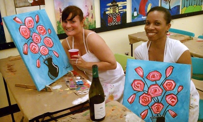 Paint Along - Flatiron District: BYOB Painting Workshop at Paint Along