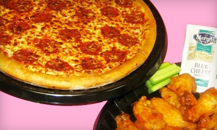 Riverside Pizza - Multiple Locations: $7 for $15 Worth of Pizza, Wings, and Drinks at Riverside Pizza