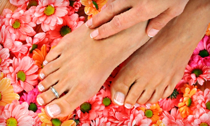 Bling Nails - Downtown Vancouver: $47 for Deluxe Mani-Pedi at Bling Nails & Beauty Lounge (Up to $95 Value)
