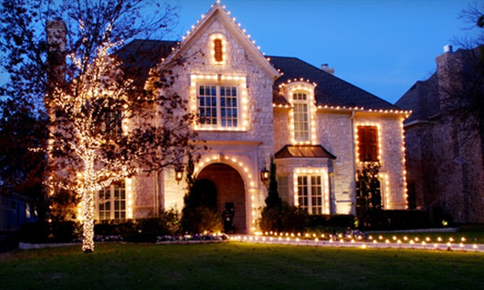 The Service Group - North Raleigh: $140 for Up to 75 Feet of Custom Christmas Lights Installation from The Service Group