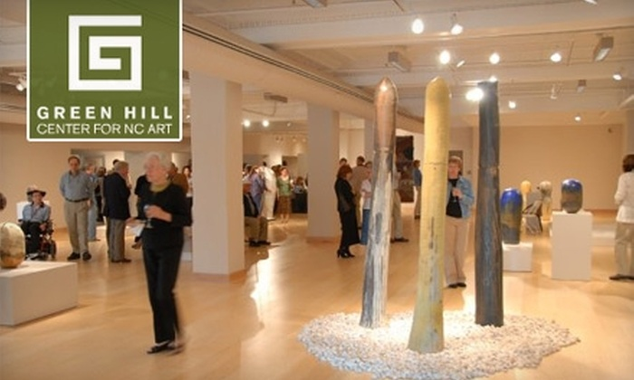 Green Hill Center for NC Art - Downtown: $30 for a Household Membership ($65 Value) or $15 for a Single Membership ($35 Value) to Green Hill Center for NC Art