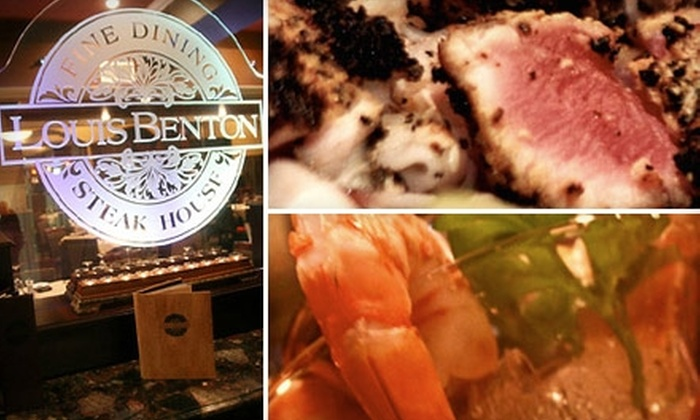 Louis Benton Steakhouse - Heartside-Downtown: $25 for $60 Worth of Fine Steaks, Seafood, Beverages, and More at Louis Benton Steakhouse