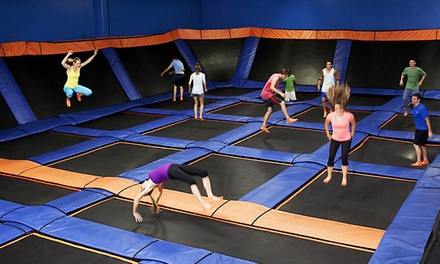 60-Minute Open-Jump Passes for Two People at Sky Zone (Up to 50% Off). Two Options Available.