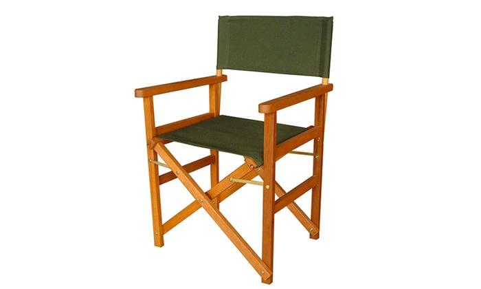 Set di 2 sedie da regista groupon goods