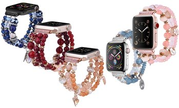 Beaded Bracelet Elastic Band for Apple Watch Series 1/2/3/4/5