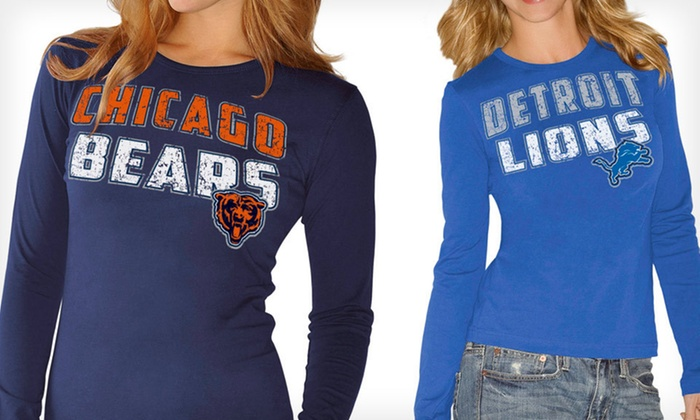 Women's Long-Sleeved NFL Tee: GIII for Her by Carl Banks: $19 for a Women's Long-Sleeved NFL Cotton Tee in S–XL ($30 List Price). 14 Teams Available. Free Shipping and Returns.