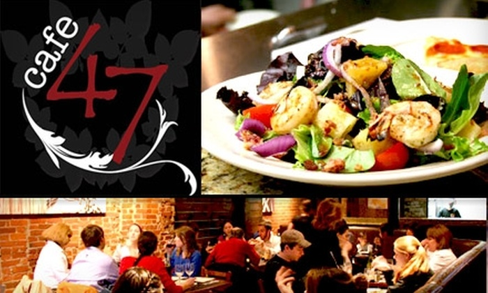 Cafe 47 - Back Bay: $15 for $30 Worth of Pizza and Upscale Fare at Cafe 47