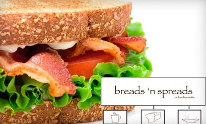 Breads n' Spreads Luncheonette - Harrisburg: $8 for $16 Worth of Café Fare and Coffee or $20 for a Gourmet Tea Party for Four ($40 Value) at Breads 'n Spreads Luncheonette