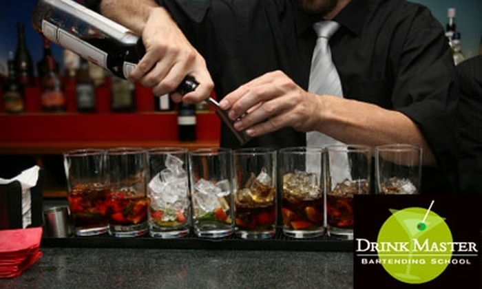 DrinkMaster Bartending School - Multiple Locations: $160 Master Bartending Course at DrinkMaster Bartending School