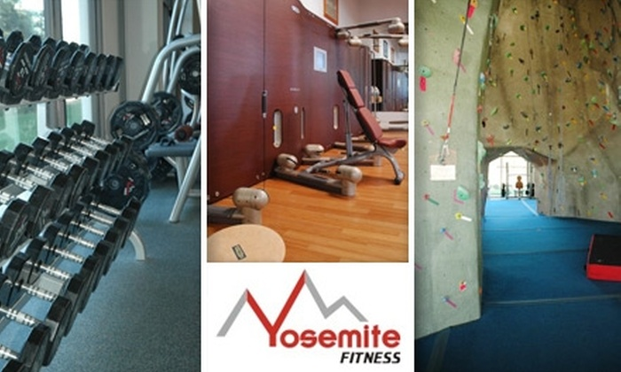 Yosemite Fitness - Clovis: $25 for a Seven-Day Nonconsecutive Pass for Rock Climbing, Including Equipment and Rock Climbing 101 Classes, at Yosemite Fitness (Up to $175 Value)