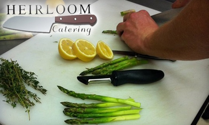 Heirloom Catering - Chattanooga: $75 for Valentine's Couple's Cooking Class ($150 Value), $45 for Cooking Class of Your Choice ($95 Value), or $15 for Coca-Cola Cake or Blueberry Pound Cake ($35 Value) at Heirloom Catering