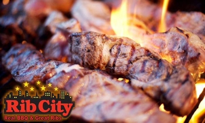 Rib City Grill - American Fork: $25 Worth of Ribs, Drinks, and More at Rib City Grill