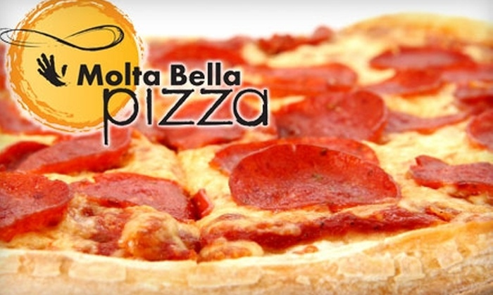 Molta Bella Pizza - Willoughby: $8 for $20 Worth of Pizza, Hot Subs, and Pasta at Molta Bella Pizza
