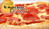 $8 for Pizza at Molta Bella Pizza