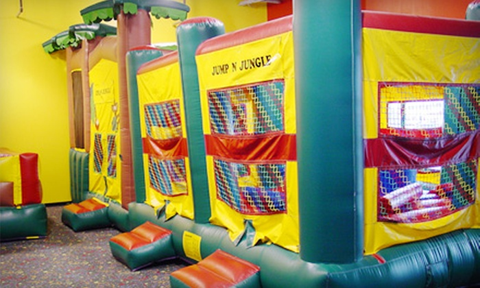 Jump N Jungle - Multiple Locations: $15 for Five Open-Playtime Sessions at Jump N Jungle ($35 Value)