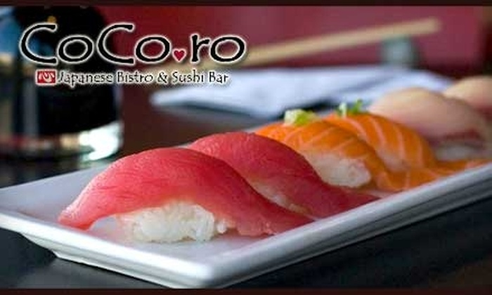 Cocoro Japanese Bistro & Sushi Bar - Pacific: $12 for $24 Worth of Fresh Sushi and More at Cocoro Japanese Bistro & Sushi Bar