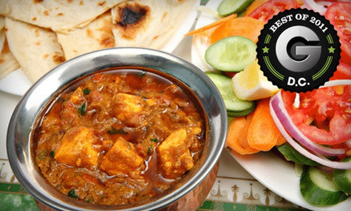 Heritage India - Multiple Locations: Indian Cuisine Sunday–Thursday or Friday and Saturday at Heritage India (Up to 52% Off)