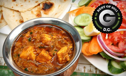 $25 Groupon Valid Sunday-Thursday - Heritage India in Washington