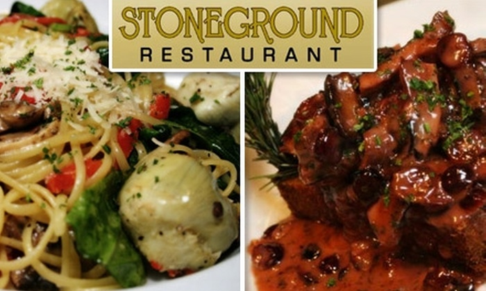 Stoneground Restaurant - Central City: $10 for $25 Worth of Pizza, Pasta, and More at Stoneground Restaurant