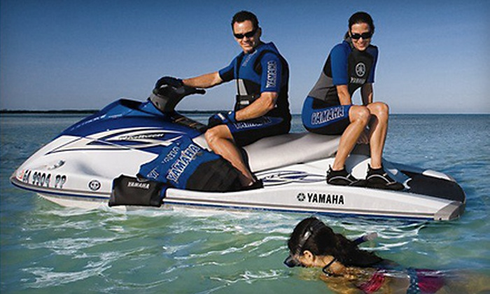 On The Beach Watersports - Fairfield: $64 for a Beach Package for Two with Jet Ski and Cabana from On the Beach Watersports in Pompano Beach ($132.50 Value)