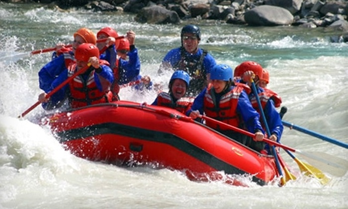Canadian Rockies Adventure Centre - Canmore: $55 for a Whitewater-Rafting Adventure Package at Canadian Rockies Adventure Centre in Canmore (Up to $110 Value)