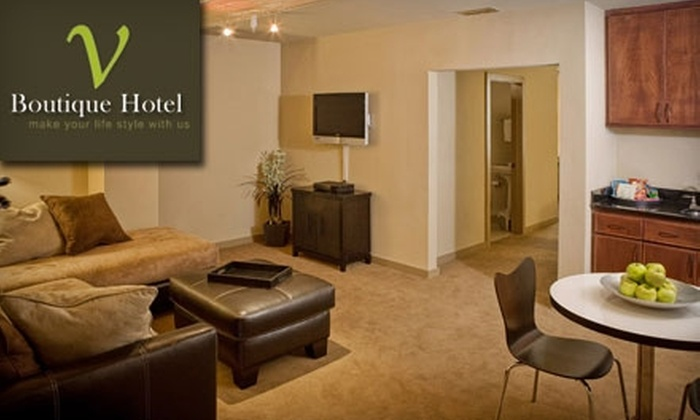 V Boutique Hotel - Central City: $148 for One Night in a Luxury Suite and Breakfast in Bed at V Boutique Hotel (Up to $343 Value)