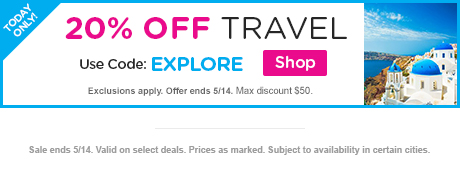 20% OFF Travel