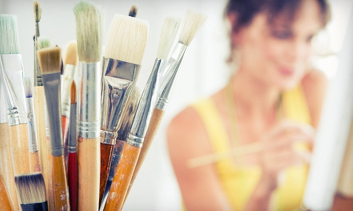 Uncork'd Art - Georgetown: Group Acrylic-Painting Class with Wine for One or Two, or Private Party for Up to 15 at Uncork'd Art (Up to 51% Off)