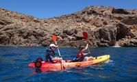 Excursión guiada de 2 horas en kayak para 1, 2 o 4 personas desde 14,95 € con Mazarrón Multiaventura