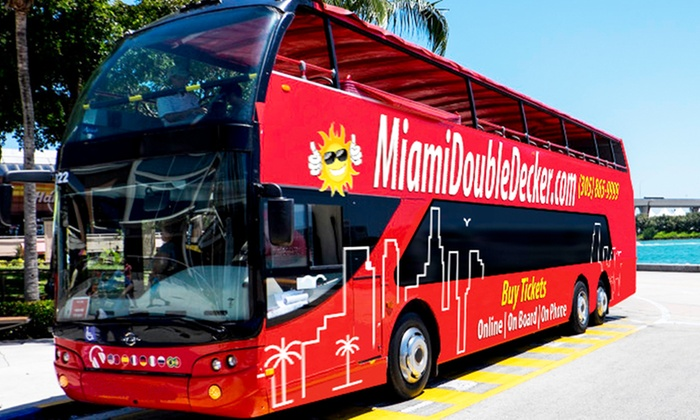 MiamiDoubleDecker.com - Miami Beach: Double-Decker Bus Tour with Option for Boat Tour for One or Two at MiamiDoubleDecker.com (Up to 37% Off)