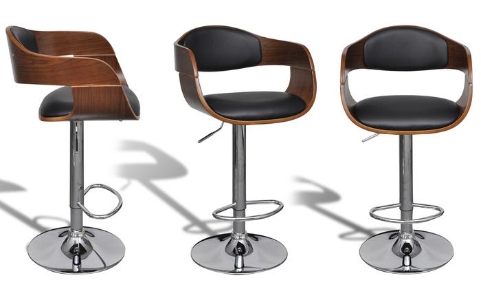 tabouret de bar en bois groupon. Black Bedroom Furniture Sets. Home Design Ideas