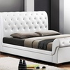 Queen-Size Tufted Upholstered Platform Sleigh Bed