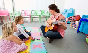 Preschool of the Arts: Three or Six Mommy & Me Classes in Yoga, Music, or Baking at Preschool of the Arts (Up to 57% Off)