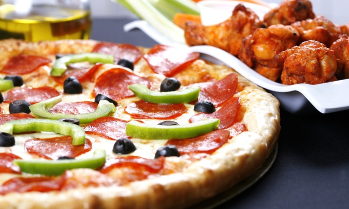 Buffalo Brothers Pizza & Wing Company - Wake Forest: Pizza, Wings, and Burgers at Buffalo Brothers Pizza & Wing Company (Up to 45% Off). Two Options Available.