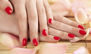 Pink Line Spa: White, Gold or Regular Henna on Both Hands or Classic or Gelish Mani-Pedi at Pink Line Nail Spa
