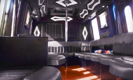 $299 for Four-Hour Luxury Party Bus Rental for Up to 24 People on Sunday–Friday from Sixth Street Rides ($800 Value)