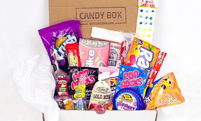 Candy Box: One- or Three-Month Subscription for Delivery of Mini or Big Candy Boxes from Candy Box (Up to 55% Off)