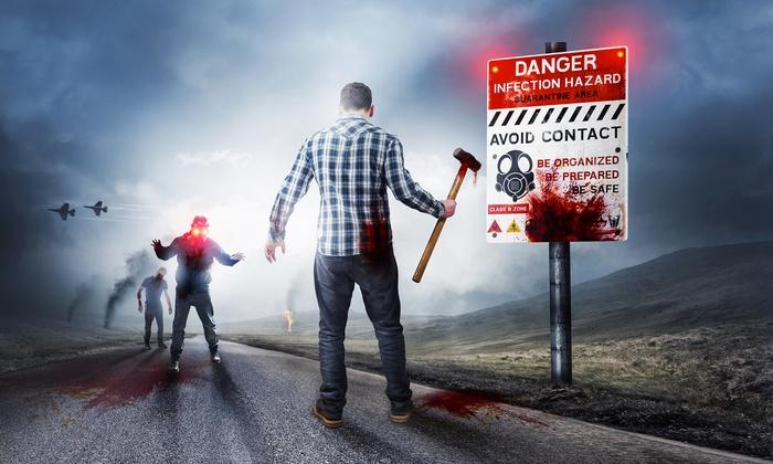 Zombie Escape Room Experience - Las Vegas: Zombie Escape Experience with Optional Zombie Shooting at Zombie Escape Room Experience  (46% Off). 4 Options.