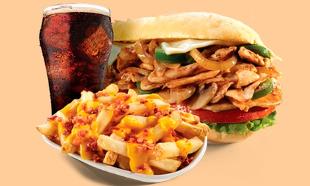 Grilled Subs, Fries, and Drinks at Charley's Grilled Subs (40% Off). Two Options Available.