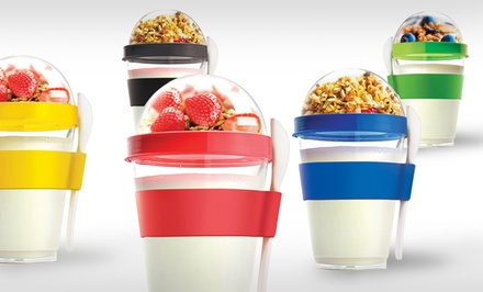 Set of 2 Yo-To-Go Yogurt Containers with Spoon