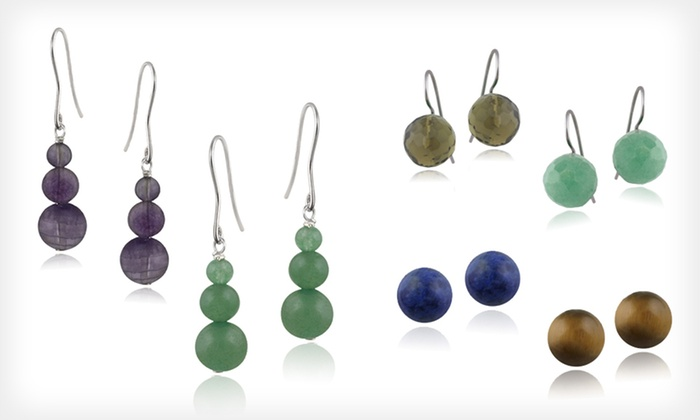 Gemstone Bead Earrings: Gemstone Bead Earrings (Up to 74% Off). 17 Styles Available. Free Returns.