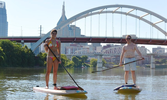 Big Willie's Action Sports - Downtown Riverfront Park: $145 for a Downtown Guided Stand-Up Paddleboard Tour for Four at Big Willie's Action Sports ($260 Value)