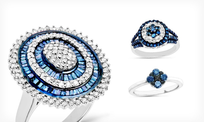 Blue and White Diamond Jewelry: Blue and White Diamond Jewelry (Up to 71% Off). Multiple Designs Available. Free Shipping and Returns.