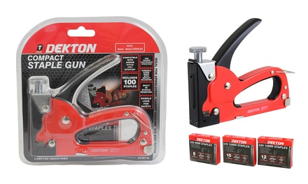 Dekton Professional Compact Staple Gun with Optional Extra Staples