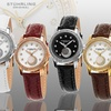 Stuhrling Original Women's Elegant and Dazzling Leather-Strap Watch