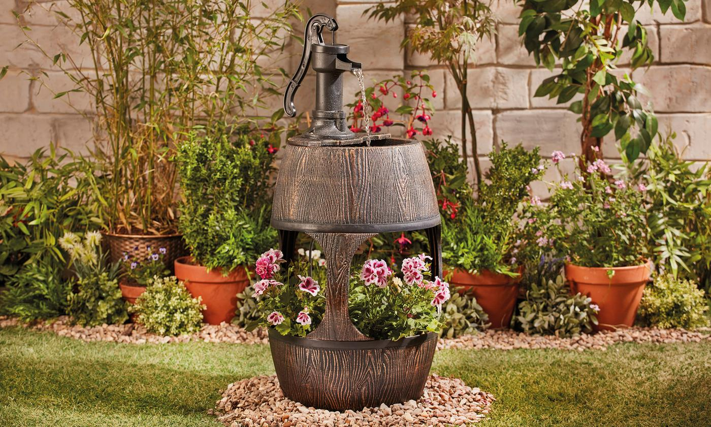 Barrel Water Feature and Planter