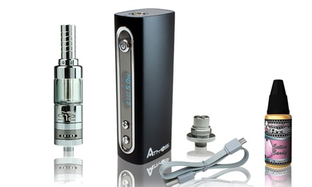 Atmos i30 Box Mod with S12 E-Liquid Cartridge and 1 E-Liquid from SMK24