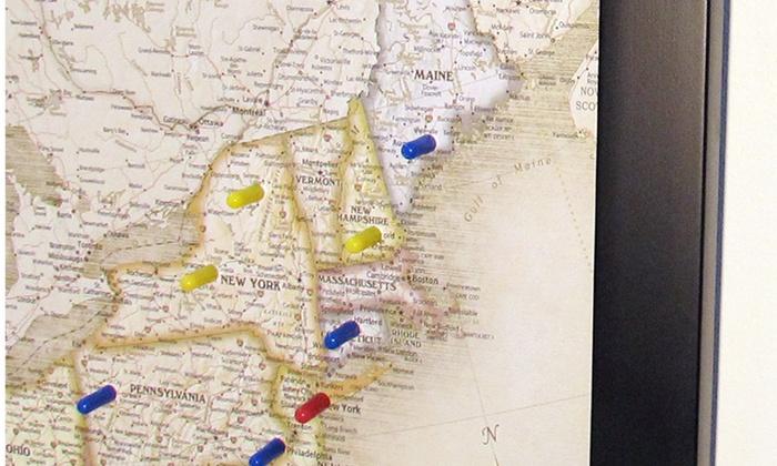 USA & World Magnetic Pin Travel Maps | Groupon
