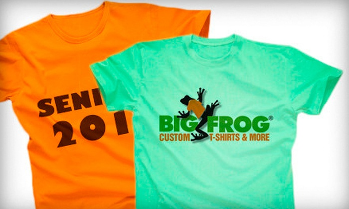 Big Frog Custom T-Shirts & More - Multiple Locations: $19 for $40 Worth of Custom-Printed Apparel at Big Frog Custom T-Shirts & More